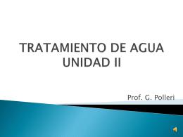 TRATAMIENTO DE AGUA UNIDAD II