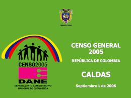 Población censada CALDAS 1993 - 2005