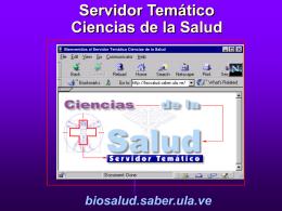 SERVIDOR TEMÁTICO EN BIOSALUD