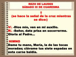 rezo de laudes - parroquia nuestra señora del carmen