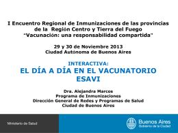 02 ESAVIs., Dra. Alejandra Marcos