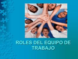 Roles trabajo equipo