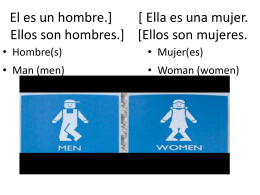 Ellos son mujeres. - DC Spanish Resources