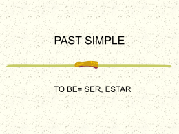 PAST SIMPLE - englishnatividad