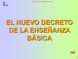 el nuevo decreto de la enseñanza básica