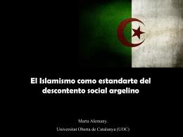 El islamismo como estandarte del descontento social argelino