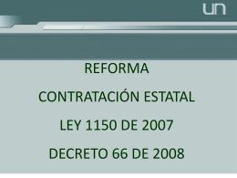 Presentación Reforma Ley 80.