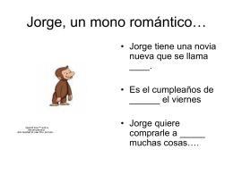 Jorge, un mono romantico… - WMS-Spanish