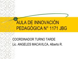 COORDINACION AIP1 2010 - documentos aula de innovacion
