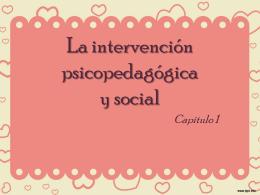 La intervención psicopedagógica y social - ana-upn