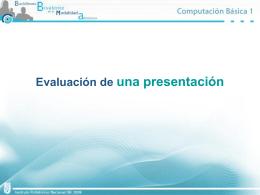 Evaluación de una presentación