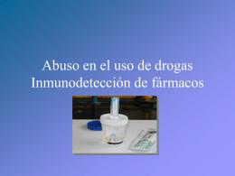 Detección de fármacos (abuso en su uso)