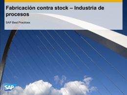 Fabricación contra stock – Industria de procesos
