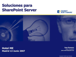 PPT Soluciones para SharePoint Quest Software