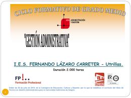 Gestión Administrativa - IES Fernando Lázaro Carreter