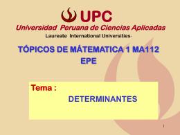 Tema - Universidad Peruana de Ciencias Aplicadas