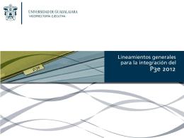 P3e 2012 - Consejo de Rectores