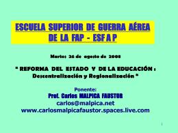 Aucun titre de diapositive - Asociación Civil Presidente Ramón Castilla