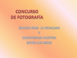 Concurso Fotografía Educación para la