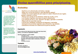 Curso de Iniciación a la Cocina Macrobiótica
