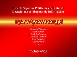 Reingenieria - Blog de ESPOL - Escuela Superior Politécnica del
