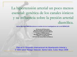 Patogénesis de la HTA esencial