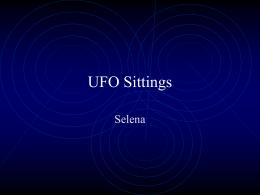 UFO Sittings