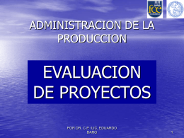 9: Evaluación de Proyectos