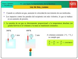 8. Ley de Gay Lussac