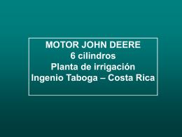 MOTOR JOHN DEERE 6 cilindros Planta de irrigación Ingenio Taboga