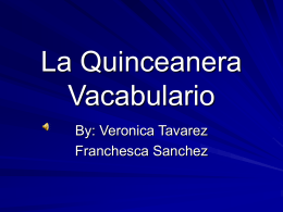 La Quinceanera Vacabulario