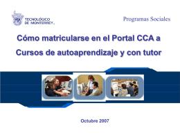 matricularse en el Portal CCA