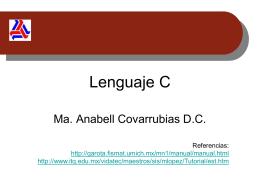 Lenguaje C - Estructura de datos