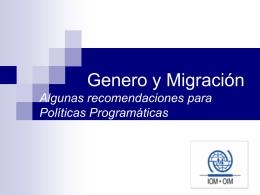 Genero y Migración