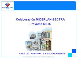 Colaboración MIDEPLAN-SECTRA Proyecto RETC