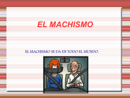 power point el machismo