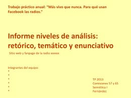 De aquí - Semiótica I – Fernández