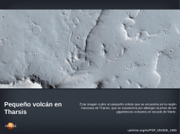 Pequeño volcán en Tharsis