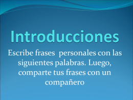 Introducciones - spanishteacher123