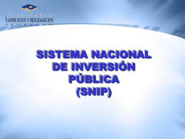 Presentación de PowerPoint - SNIP