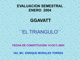 diagnostico estatico del ggavatt ``el triangulo``
