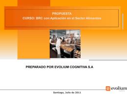 BRC con Aplicación en el Sector Alimentos