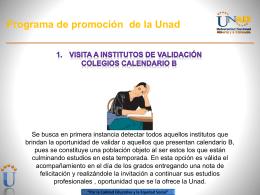 Programa de promoción de la Unad