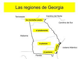 Las regiones de Georgia