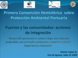 Puertos y las comunidades: acciones de integración