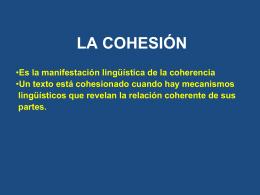 LA COHESIÓN - WordPress.com