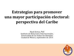 Estrategias para promover una mayor participación electoral