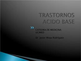 TRASTORNOS ACIDO BASE SIMPLES