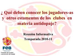 Qué es el dopaje? - Federación Española de Baloncesto