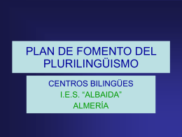 PLAN DE FOMENTO DEL PLURILINGÜISMO